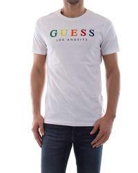 I3z00 Twht Blanc - Taille M - Couleur Guess pour homme en coloris White