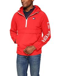 Tommy Hilfiger Red Retro Lightweight Taslan Popover Jacket for men