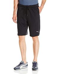 """PUMA Black P48 Core Shorts 10"""" French Terry for men"""
