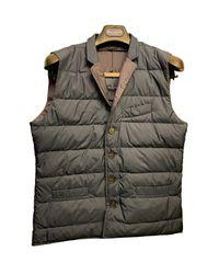 Hackett Green Down Waistcoat In Navy for men