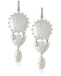 Lucky Brand Metallic S Medallion Statement Earrings