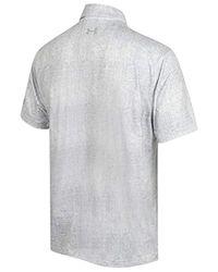 Under Armour Herren Crestable Playoff Tweed Golf-Polo-Hemd in White für Herren