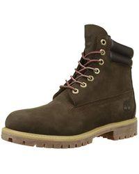 Timberland 6 Inch Double Collar Waterproof Classic Boots, Brown (dark Brown Nubuck D54), 10 Uk for men