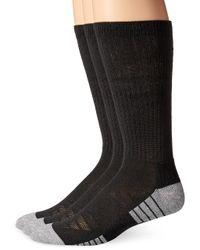 Under Armour Black Socks Heatgear Tech Crew 3 Pack