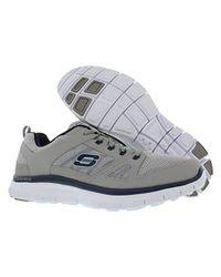 Skechers Gray Sport Flex Advantage Memory Foam Training Shoe for men