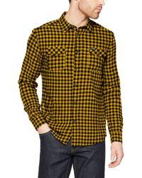 Camicia Uomo di Wrangler in Yellow da Uomo