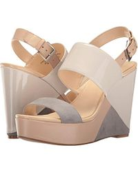 30803789f61 Lyst - Nine West Dreamz Synthetic Wedge Sandal in White