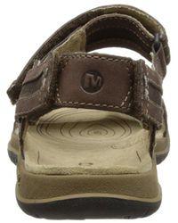 Merrell Brown Traveler Tilt Convertible Sandal for men