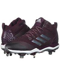 Adidas Originals Purple Freak X Carbon Mid Baseball Shoe for men