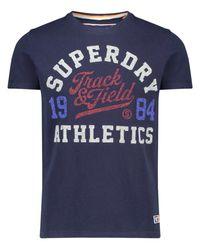 Le t-Shirt pour s Track & Field Tri Tee Superdry pour homme en coloris Blue