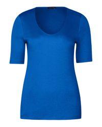 Street One Basic Shirt Active Blue 46