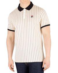 , Polo da tennis da uomo White Line BB1, stile vintage, colore: bianco a righe Beige XL di Fila in Natural da Uomo
