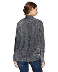 BB Dakota - Gray Sheryl Fuzzy Cocoon Sweater Cardigan - Lyst