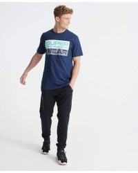 Streetsport Graphic T-Shirt Beechwater Blue M Superdry pour homme