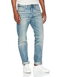 Riban Tapered Jeans para Hombre G-Star RAW de hombre de color Blue