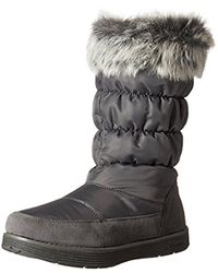 Skechers - Gray Adorbs-nylon Quilted Snow Boot - Lyst
