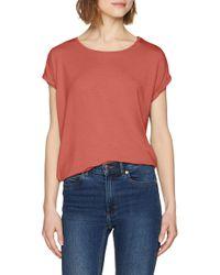 Vmava Plain SS Top Ga Color T-Shirt di Vero Moda in Red