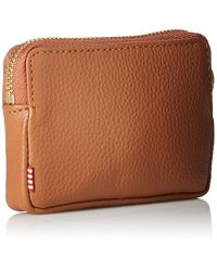 Herschel Supply Co. Brown Oxford Pouch Leather Rfid (tan Pebbled Leather) Wallet Handbags