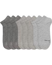 Confezione da otto paia di calze da ginnastica da donna di Skechers in Gray