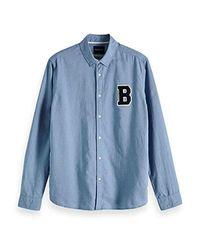 Scotch & Soda Hemd AMS Blauw Oxford-Shirt 147608 in Blue für Herren