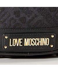 Borsa Jacquard Pu di Love Moschino in Black