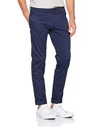 Uomo Basic Str Slim Chino Pantaloni Attillati di Tommy Hilfiger in Blue da Uomo