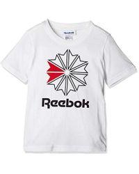 U Classics Starcrest Tee Maglietta Unisex-Adulto di Reebok in White da Uomo