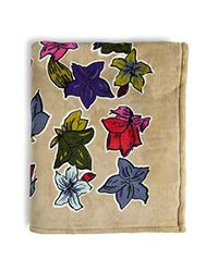 Vera Bradley Blue Fleece Plush Throw Blanket