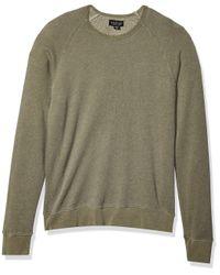 Velvet By Graham & Spencer Gray Vern Heathered Raglan Sweatshirt for men