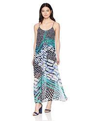 NIC+ZOE Blue Petite Bloom Away Dress
