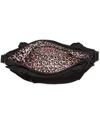 Vera Bradley Black Microfiber Hadley On The Go Satchel Purse