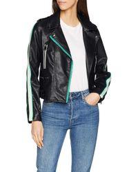 Vero Moda Black Vmina Short Faux Leather Jacket