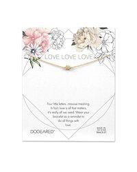 Dogeared Metallic Love Pave Sparkle Ball Bracelet