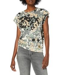 Gyre Knot Cap Sleeve Camisa G-Star RAW de color Multicolor