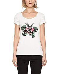 s.Oliver BLACK LABEL White T-Shirt mit Schmuck-Applikation