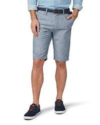 Tom Tailor Für Männer Hosen & Chino Josh Regular Slim Bermuda mit Gürtel in Blue für Herren