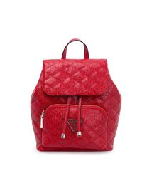 Backpack with Flap Astrid Backpack with Flap Red Guess