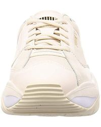 PUMA White Storm.y Leather Trainers for men