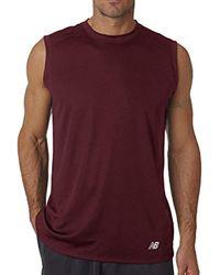 New Balance Purple S Ndurance Moisturizing Wicking Training Athletic Workout T-shirt for men