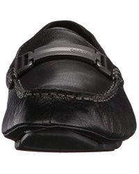 Calvin Klein Black Maxim Tumbled Leather Slip-on Loafer for men