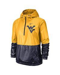 Nike Metallic College Anorak (west Virginia) Jacket Size 2xl (university Gold) for men