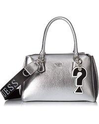 Felix, Borsa a Mano Donna, Argento (Silver/SIL), 28x18x14 cm (W x H x L) di Guess in Metallic