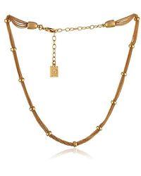 Anne Klein Metallic Classics Stretch Mesh Necklace