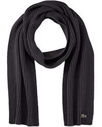 Echarpe Lacoste pour homme en coloris Black