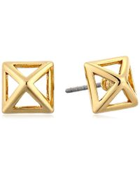 Rebecca Minkoff - Metallic S Cutout Stud Earrings - Lyst