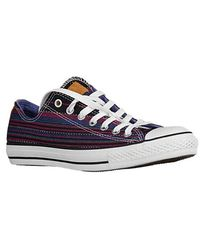 Converse - Blue Andy Warhol Banana Leather Ox Sneakers for Men - Lyst