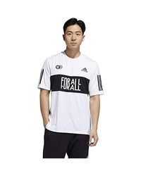 Adidas White One Team 3-stripe Relaxed Fit T-shirt for men