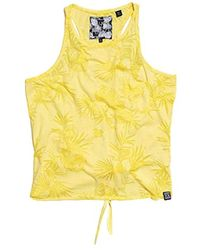 Tropical Burnout T-Shirt Pineapple Yellow S Superdry
