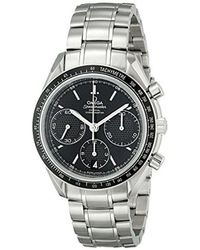 Omega Black O32630405001001 Speed Master Analog Display Automatic Self Wind Silver Watch for men