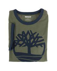 Timberland Green Short Sleeve Tree Logo Ringer T-shirt for men